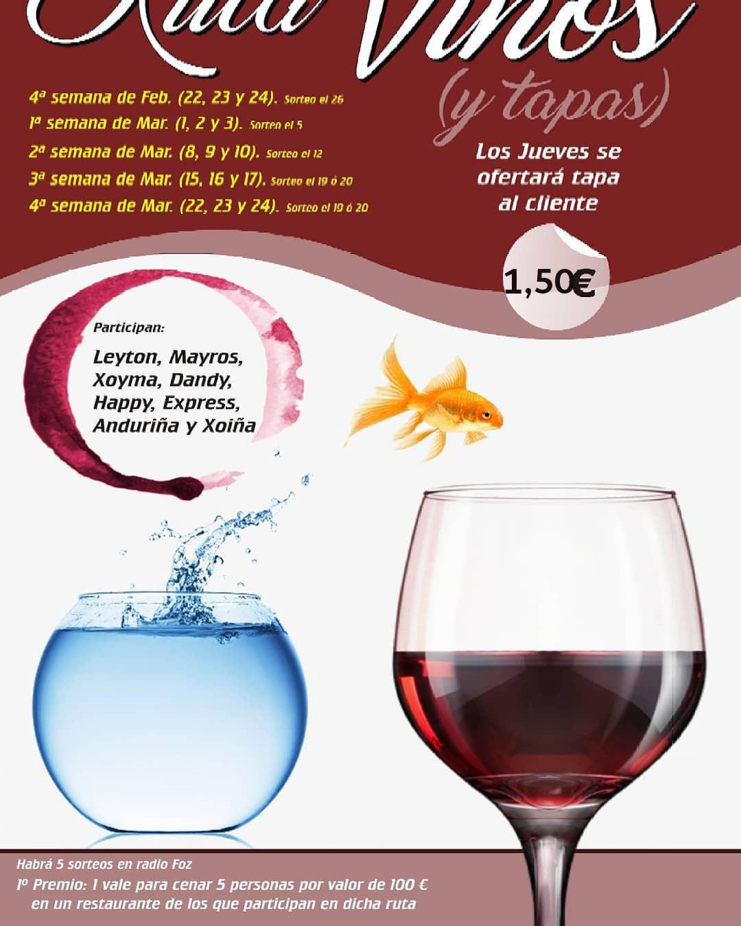Ruta de vinos y tapas en Foz